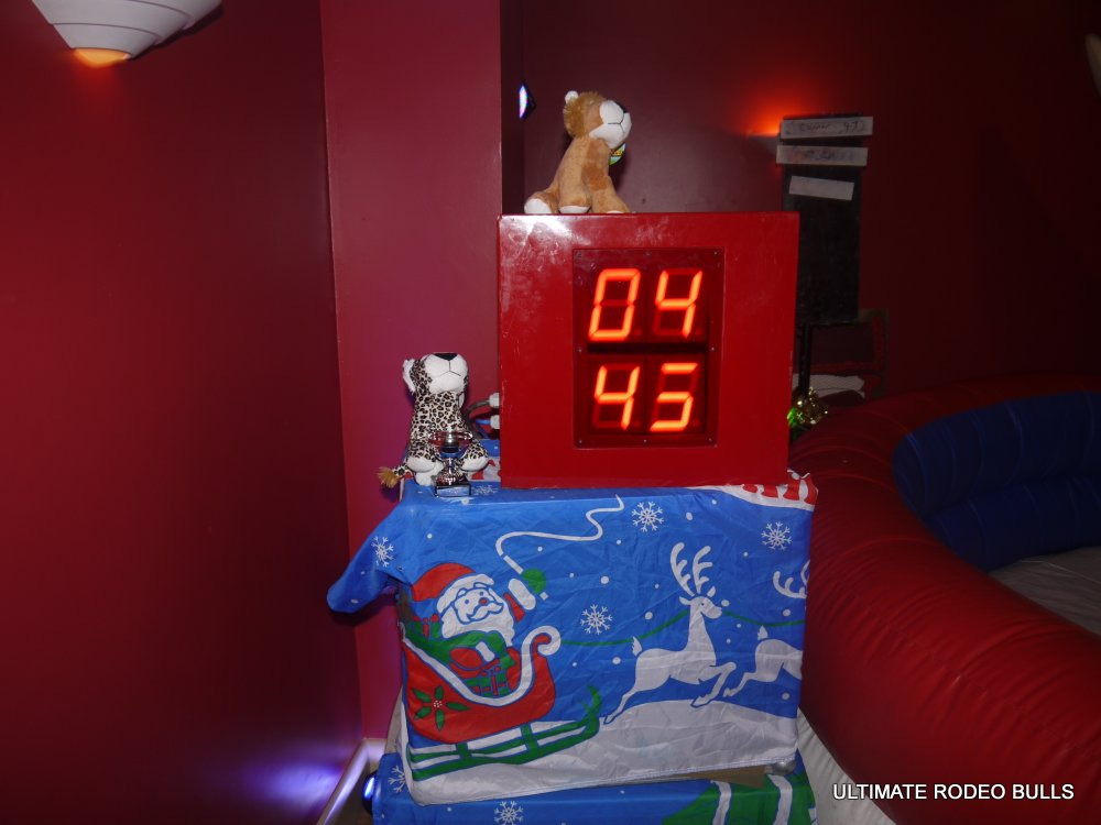 RODEO BULL LED CLOCK